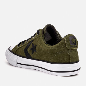 Converse Kids' Star Player Ox Trainers - Herbal/White/Black: Image 2