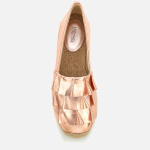 MICHAEL MICHAEL KORS Women's Bella Metallic Leather Espadrilles - Soft Pink: Image 3