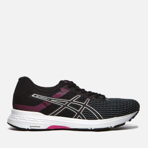 Asics Running Women's Gel-Phoenix 9 Trainers - Black/Silver/Fuchsia Red