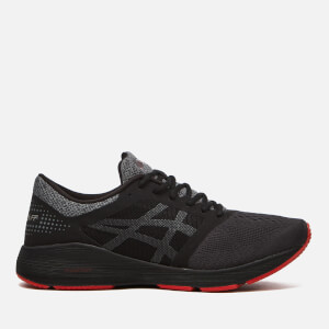 Asics Men's Running Roadhawk Free Foam Trainers - Black/Carbon/Classic Red