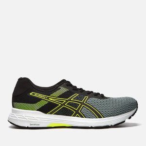 Asics Running Men's Gel-Phoenix 9 Trainers - Stone Grey/Black/Safety Yellow