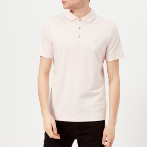 Michael Kors Men's Liquid Jersey Short Sleeve Polo Shirt - Faded Pink