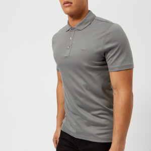 Michael Kors Men's Liquid Jersey Short Sleeve Polo Shirt - Storm