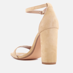 Steve Madden Women's Carrson Suede Barely There Heeled Sandals - Sand: Image 3
