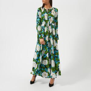 Diane von Furstenberg Women's Bethany Cinch Sleeve Maxi Dress - Boswell Ivory