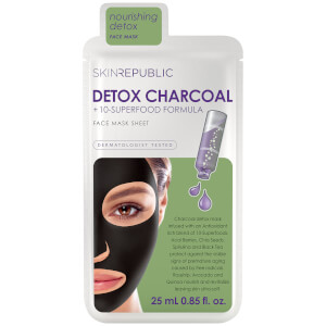 Mascarilla Superfood Detox + Charcoal de Skin Republic 25 ml