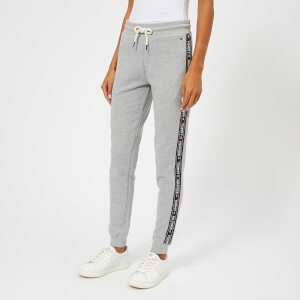 Tommy Hilfiger Women's Track Pants with Logo Trim Down the Side - Grey