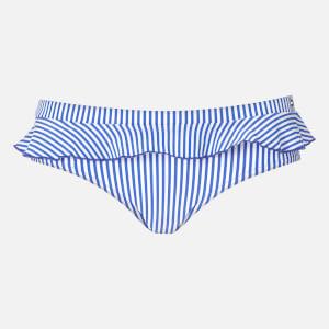 Tommy Hilfiger Women's Frill Bikini Bottoms - Blue
