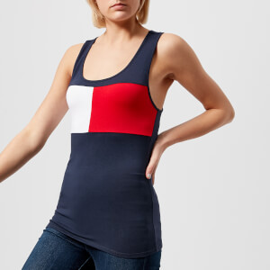 Tommy Hilfiger Women's Logo Tank Top - Navy