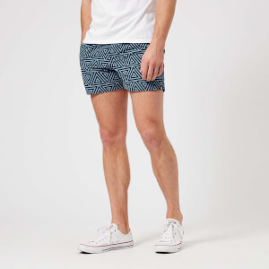 adidas Men's All Over Print Swim Shorts - Carbon