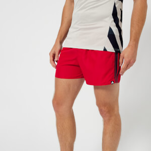 adidas Men's 3 Stripe VSL Shorts - Scarlet