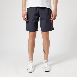 adidas Men's 3 Stripe Swim Shorts - Trace Blue