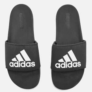 adidas Men's Adilette Logo Slide Sandals - Core Black