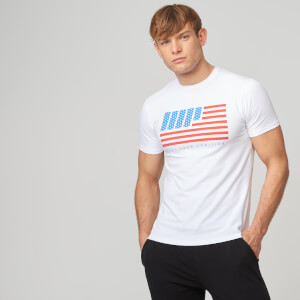 USA Stars and Stripes T-Shirt - White