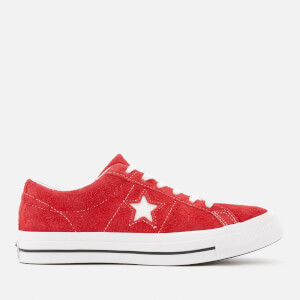 Converse One Star Ox Trainers - Red/White