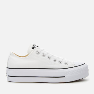 Converse Women's Chuck Taylor All Star Lift Ox Trainers - White/Black/White