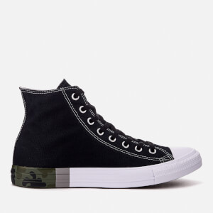Converse Men's Chuck Taylor All Star Hi-Top Trainers - Black/Dolphin/White