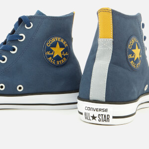 Converse Men's Chuck Taylor All Star Hi-Top Trainers - Navy/Black/White: Image 4