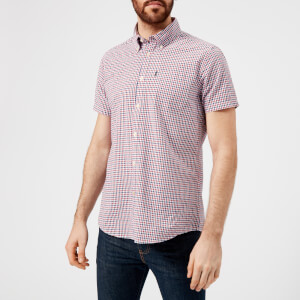 Barbour Men's Newton Short Sleeve Checked Shirt - Navy