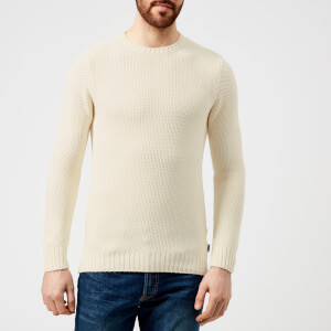 Barbour Men's Kelp Crew Neck Knitted Jumper - Neutral