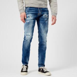 Dsquared2 Men's Cool Guy Paint Spots Buchi Wash Jeans - Blue