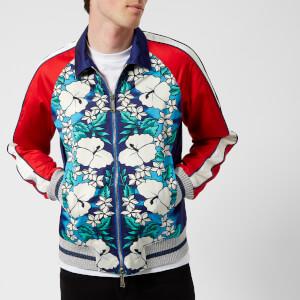 Dsquared2 Men's Ibisco Printed Nylon Bomber Jacket - Blue/White Flower