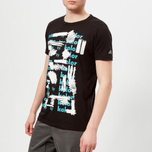 adidas by kolor Men's Graphic Short Sleeve T-Shirt - Black