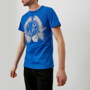 Versace Jeans Men's Large Wreath T-Shirt - Cobalt