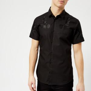 Versace Jeans Men's Shoulder Detail Short Sleeve Shirt - Nero