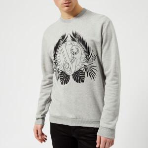 Versace Jeans Men's Large Wreath Sweatshirt - Grigio