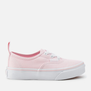 Vans Kids' Authentic Elastic Lace Trainers - Chalk Pink/True White