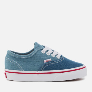 Vans Toddlers' 2 Tone Denim Authentic Trainers - Blue/True White