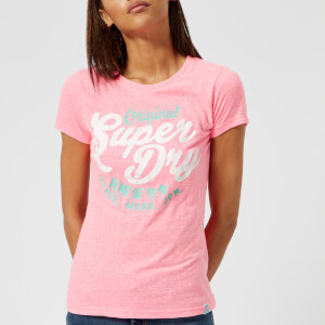 Superdry Women's New Original Entry T-Shirt - Fluro Pink Snowy