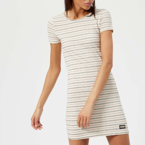 Superdry Women's Textured Pacific T-Shirt Dress - Cream