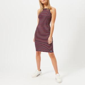 Superdry Women's Strappy Stripe Midi Dress - Pacific Marina Stripe