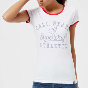 Superdry Women's State Athletic Ringer Entry T-Shirt - Optic