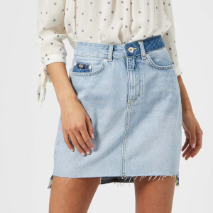 Superdry Women's Denim Mini Skirt - Maldive Tide Blue