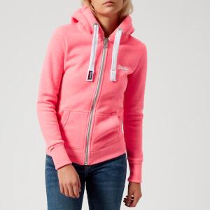 Superdry Women's Orange Label Primary Zip Hoody - Casette Pink Snowy