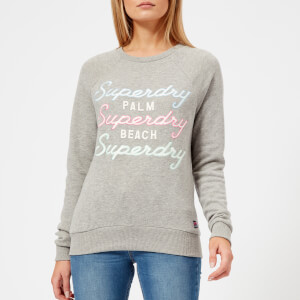 Superdry Women's Applique Raglan Crew Sweatshirt - Grey Marl