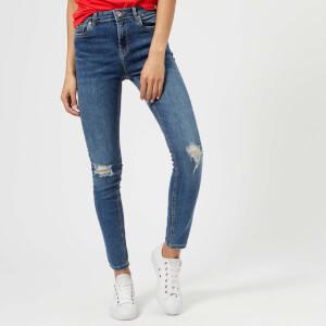 Superdry Women's Sophia Skinny Jeans - Hawaii Blue Ripped