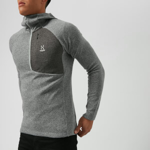 Haglofs Men's Nimble Hooded Fleece Top - Grey Melange