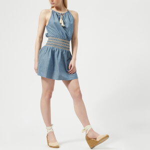 MINKPINK Women's Lost & Found Smocked Waist Dress - Chambray