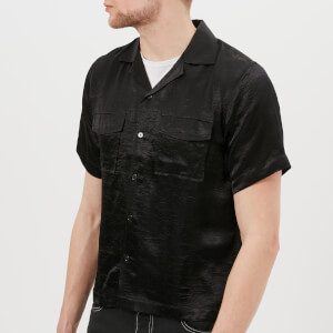 Matthew Miller Men's Hunterfield Short Sleeve Shirt - Caviar/Black