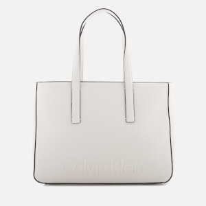 Calvin Klein Women's Edge Medium Shopper Bag - White