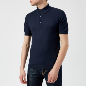 John Smedley Men's Roth 30 Gauge Sea Island Cotton Polo Shirt - Navy