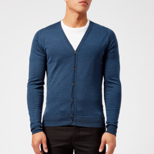 John Smedley Men's Petworth 30 Gauge Merino Cardigan - Indigo