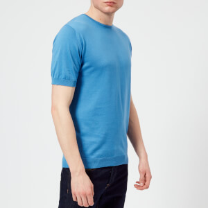 John Smedley Men's Belden 30 Gauge Sea Island Cotton T-Shirt - Chambray Blue