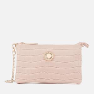 Versace Jeans Women's Croc Print Clutch Bag - Pink