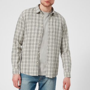 Folk Men's Storm Shirt - Ecru/Black/Check