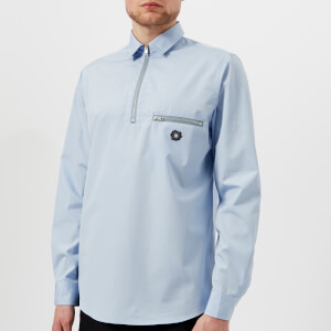 OAMC Men's L-Zip Shirt - Light Blue